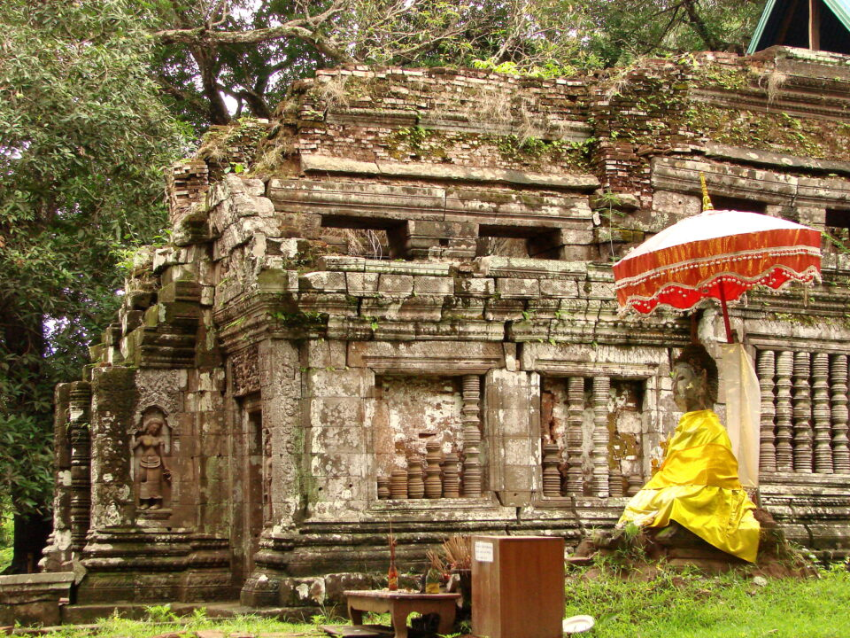 Ο ναός του Wat Phu στο Champasak στο Λάος