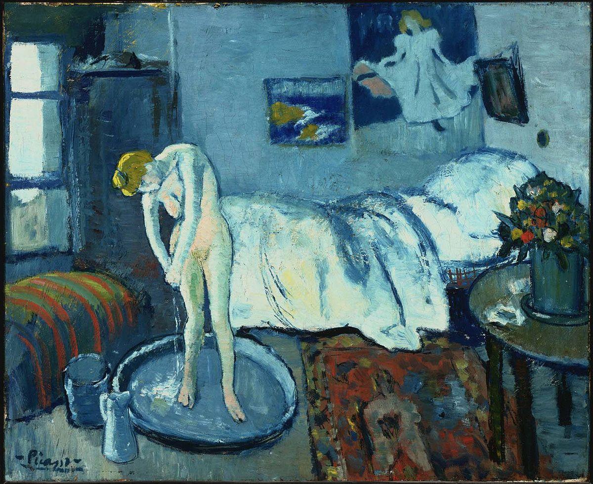 """«Μπλε δωμάτιο"""" Pablo Picasso πηγή: wikipedia"""